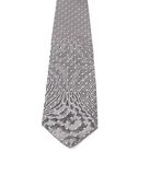 Gray tie with white speck. Stock Image