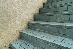 Gray Tile Staircase fotos de stock