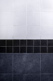 Gray tile wall Royalty Free Stock Images