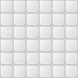 Gray Tille Seamless Pattern blanco con los elementos cuadrados brillantes Imagen de archivo libre de regalías