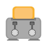 gray toaster breakfast appliance house Royalty Free Stock Image