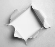 Gray torn paper with square shape Royalty Free Stock Photography