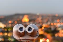 Gray tourist binoculars Royalty Free Stock Photo