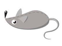 Gray toy mouse. Stock Images
