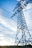 Gray Transmission Line Under Blue Sky at Daytime Royalty Free Stock Photography