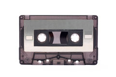 Gray-transparent Compact Cassette isolated Royalty Free Stock Photo