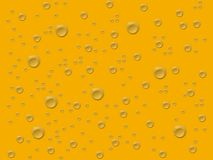 Grey drops in gold background Royalty Free Stock Photography