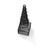 Gray transparent tower Royalty Free Stock Photos