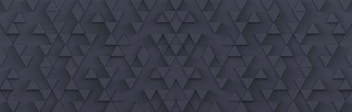 Gray triangle pattern backdrop background. 3D rendering royalty free illustration