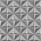 Gray triangle seamless pattern.Fashion graphic design.Vector illustration. Optical illusion 3D Modern stylish abstract texture. Te. Mplate for print, textile Royalty Free Stock Image