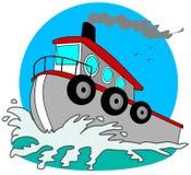 Gray Tugboat Stock Image