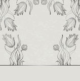 Gray tulips Royalty Free Stock Image