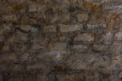 The gray und old stone wall Stock Photography