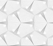 Gray unevenly striped hexagons Stock Photos