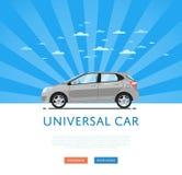 Gray universal citycar Royalty Free Stock Photo