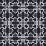 Gray universal vector seamless patterns, tiling. Geometric ornaments. Stock Photography