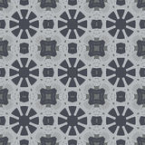 Gray universal vector seamless patterns, tiling. Geometric ornaments. Royalty Free Stock Photos