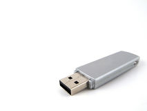 Gray USB drive Royalty Free Stock Image