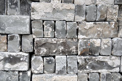 Gray used bricks Royalty Free Stock Photo