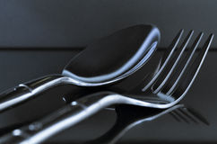 Gray Utensils Macro Royaltyfria Foton