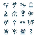 Gray vacation icons Royalty Free Stock Image