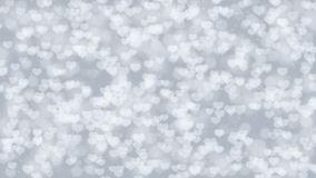 Gray Valentine Hearts Bokeh Looped Animation Background. stock video