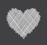 Valentine`s love background with heart. Gray Valentine`s love background with white abstract heart. Vector illustration Stock Photos