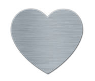 Gray Valentines's Day Heart with Metal Texture Royalty Free Stock Photography