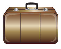 Gray valise Stock Photos