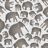 Gray vector elephants simple seamless pattern Royalty Free Stock Photos