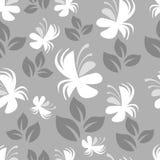 Gray vector floral pattern Stock Photos