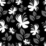 Gray vector floral pattern Royalty Free Stock Image
