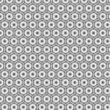 Gray vector modern geometrical abstract seamless background in the form of hexagons royalty free illustration