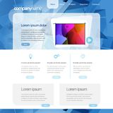 Gray vector Website Template 960 Grid. Royalty Free Stock Photos