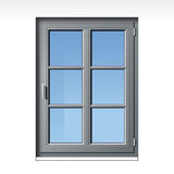 Gray vector window Stock Images