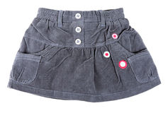 Gray velvet mini skirt Royalty Free Stock Images