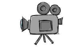 Video Camera Icon. Gray Video Camera Icon on white background Royalty Free Stock Images