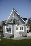 Gray villa. Old renovated villa in Denmark Stock Image