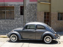 Gray Volkswagen Beetle 1300 in Miraflores, Lima royalty free stock images