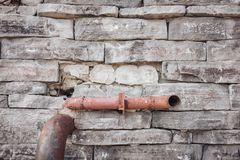 Gray wall background of uneven brickwork stone texture royalty free stock photography