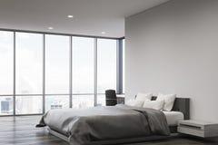 Gray wall bedroom, side Stock Image