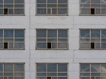 Gray wall with big windows. Royalty Free Stock Photo