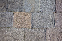 Gray wall from blocks as background closeup Royalty Free Stock Images