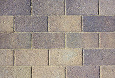 Gray wall from blocks as background closeup Stock Image