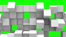Gray Wall of cubes falls apart