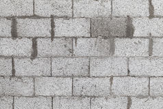 Gray wall made of aerated concrete blocks Royalty Free Stock Image