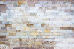 Gray wall of marble blocks, stone light texture as background Stock Photography