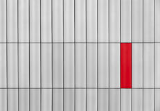 Gray wall with a red rectangle Stock Photography