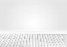 Gray wall and wood floor background. Vector Stock Photo