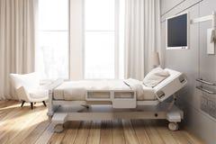 Gray walled hospital ward Royalty Free Stock Images